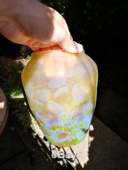 Daum Nancy vase'Monnaie du pape' Art Nouveau Pâte de verre Gallé
