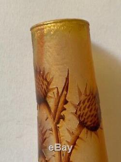 Daum Petit vase Art nouveau aux Chardons