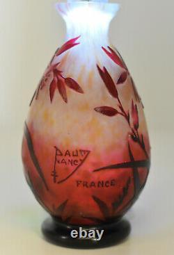 Daum Vase balustre Verre multicouches France, vers 1913