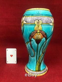 Deck Milet Enamelled Vase Emaille Iris Art Nouveau Jugendstil Sevres Paris 1900