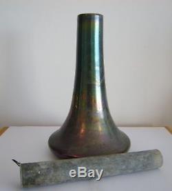Delphin Massier Vase irisé libellule Vallauris art nouveau céramique levy dhurm