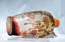 Devez Camille Tutré de Varreux GRAND VASE Pâte de Verre De Vez 40 cm gallé daum