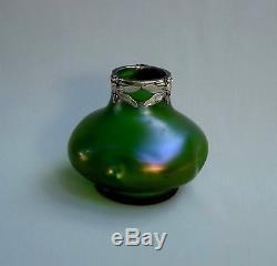 Dlg Loetz, Kralik Boheme, Jugendstil Vase 1900 Verre Irise, Epoque Art Nouveau