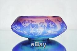 EMILE GALLÉ Vase Sublime COUPE décor VOLUBILIS Pâte de Verre Gravé ART NOUVEAU