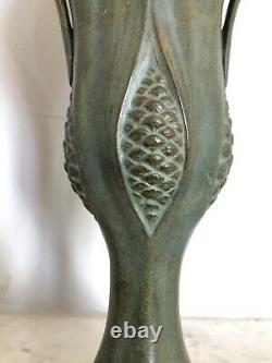 EXCEPTIONNEL vase bronze ART-NOUVEAU Auguste DELAHERCHE Siot FONDEUR 1900 50cm