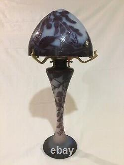 Émile Gallé (1846-1904) Lampe Champignon Glycines Art Nouveau Vase Gallé