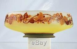 Emile Gallé Importante Coupe Pommier du Japon Vase Pâte de Verre ART NOUVEAU
