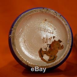 Emile Gallé Keller & Guerin Luneville Paire 2 vases Art Nouveau Lys Earthenware