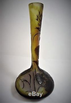 Emile Gallé Vase Art Nouveau 1900 Réf/A23/19