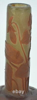 Emile Gallé Vase miniature soliflore Verre multicouches France, vers 1920