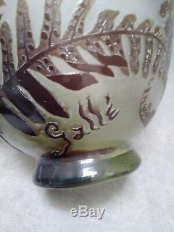 Émile Gallé vase Art Nouveau fougères