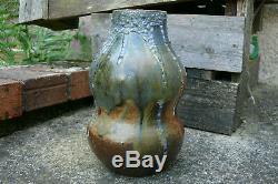 Eugène LION Joli vase grès forme double gourde Art Nouveau