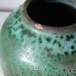Eugène Lion vase céramique grès XXe Art Nouveau Chine émaux sang de boeuf