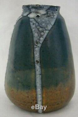 Eugène Lion vase en grès coulures blanche Ecole de Carriès Puisaye art nouveau