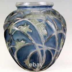 Exceptionnel Vase boule modèle Sauterelles René LALIQUE signé création 1912