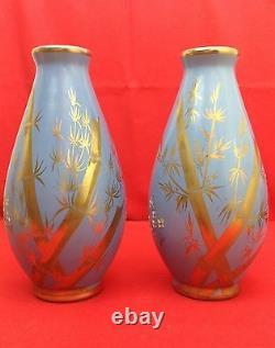 G. ASCH 1856-1911 & Faïencerie SAINTE-RADEGONDE Paire vases Art Nouveau C. 1900
