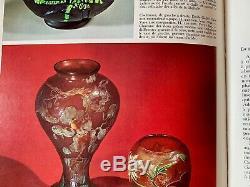 Gd vase pâte de verre Emile Gallé Art Nouveau gravé à la roue cameo acide etched