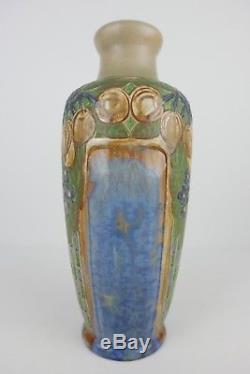 Grand Vase Art Nouveau En Grès Signé Mougin Nancy French Pottery 19th Century