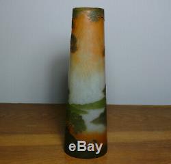 Grand Vase Legras Décor paysage gravé à l'acide Art Nouveau H 35cm