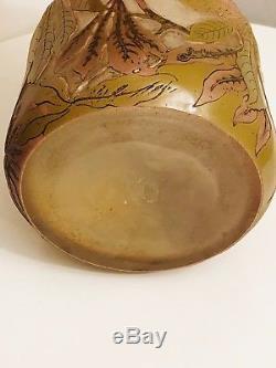 Grand Vase Pate De Verre Pâte De Verre Galle Art Deco Art Nouveau