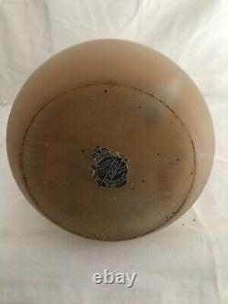 Grand Vase Piriforme signé LEUNE Art Déco Art Nouveau Gallé Daum 51cm