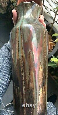 Grand vase Art Nouveau en Grés émaillé, à identifier 36cm Dalpayrat