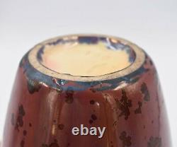 Grand vase Pierrefonds en grès à cristallisation Art Nouveau couleurs atypiques