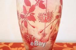 Grand vase de collection Art Nouveau Cristallerie de Pantin
