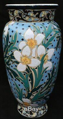 Grand vase ovoide BOCH-FRERES vernisé ART NOUVEAU 1925