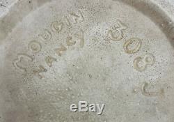 Joseph Mougin Nancy 308 J Vase Gres Emaille Cristallisations Bleues Art Nouveau