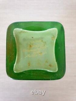 Jules Mabut A la paix Art nouveau vase en verre acide 1900 gallé legras Daum