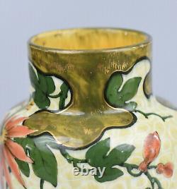 Keller & Guérin LunévilleVase Art Nouveau-Faïence Décor Japonisant-ca 1900