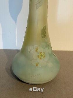 LEGRAS Superbe vase Fleurs de Pommier pate de verre Galle Daum art nouveau