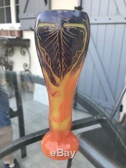 LE VERRE FRANÇAIS Petit vase art nouveau