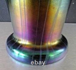 LOETZ KRALIK Grand vase art nouveau irisé-iridescent glass-42,5cm, daum, gallé