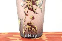 Legras Mont Joye Vase Art Nouveau givré Artistiquement ouvragé