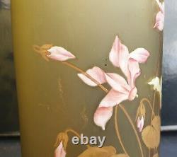 Legras Ou Autres Paire De Vases Emailles Decor Or Periode Art Nouveau 1900