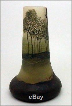 Legras Vase à décor de paysage arboré