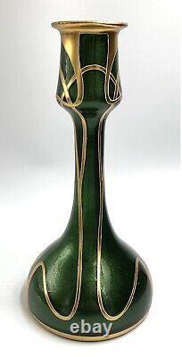 MAGNIFIQUE VASE verre soufflé aventuriné doré Art-Nouveau LEGRAS XIX 19TH 1900