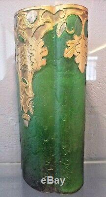 MONTJOYE St denis-Vase art nouveau gravé acide-daum, gallé, schneider, muller, argy