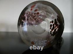 Magnifique vase cristal jaspé gravé Art Nouveau Ernest-Baptiste Léveillé