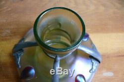Magnifique vase irisé Art Nouveau Antique Glass Jugendstil