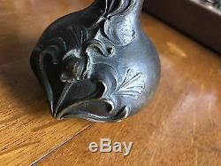 Maubach // Vase Soliflore En Bronze Ancien Signé Maubach // Art Nouveau