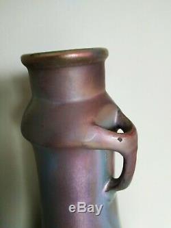 Montières Grand vase irisé Art Nouveau 35cm