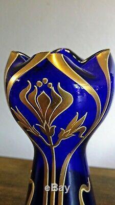 Montjoye/Legras Vase Art Nouveau émaillé et rehaussé à l'or Vers 1900