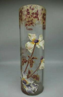 Montjoye / Legras, vase en verre émaillé, Art Nouveau 1900