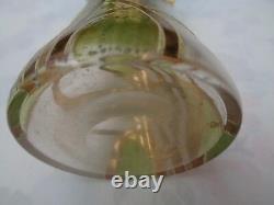 Paire De Vases Art Nouveau Verre Emaille Bon Etat Annees 30