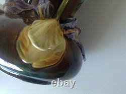 Paire De Vases Barbotine Art Nouveau
