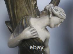Paire Statuettes art nouveau vases anciens