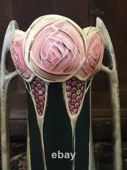 Paire Vases Art Nouveau